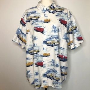 Clearwater Outfitters USA Classic Cars Shirt XL